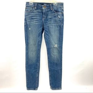 a.n.a. Distressed Blue Jeans Size 29/8 Boyfriend